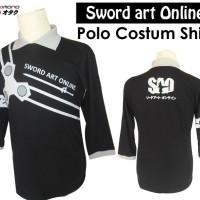 Kaos Polo SWORD ART ONLINE SAO Lengan 3/4
