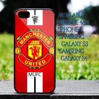 Custom Case Manchester United FC Logo for Iphone 4/5/s, Samsung Galaxy, HTC, Blackberry Cover