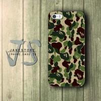 Bape Logo Bathing Ape iPhone Case Doreng Tentara Army , Casing HP, Casing iPhone , tersedia Type 4 4s 5 5s 5c