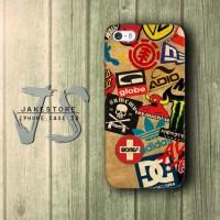 Skateboard Logos DC Vans Globe Adidas Etnies Billabong iPhone Case , Casing HP, Casing iPhone , tersedia Type 4 4s 5 5s 5c