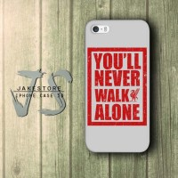 You'll Never Walk Alone Liverpool FC iPhone Case Fans Indonesia The Red , Casing HP, Casing iPhone , tersedia Type 4 4s 5 5s 5c