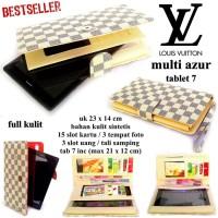 DOMPET LV KULIT HPO CASE TABLET 7 UP TO 8 INCI MULTI FUNGSI AZUR cream