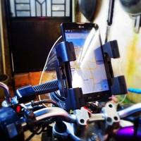 fly handphone / GPS holder tempat hp di motor tipe gagang