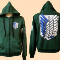 Jaket Green Hoodie Recon corps Attack on the TItan
