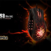 Razer Naga Molten Special Edition Expert MMO gaming mouse (Laser gaming mouse 5600 Dpi 3,5G Laser Sensor)