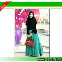 Gamis Wanita Nayla Green Hijab Set