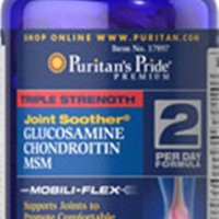 Puritan Triple Strength Glucosamine, Chondroitin & MSM Joint Soother 60 Caplet