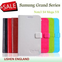 Samsung Note3 N9000 [LISHEN] Series Ultra Slim Hard Leather Case Dompet Notebook Lipetan Kulit Hitam