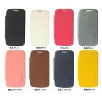 Samsung Core Duos I8260/I8262 leather case [Easybear] (Dark Blue) non-view ada Tempat Kartu Dompet Notebook Lipetan Kulit