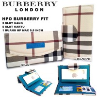 DOMPET HPO BURBERRY FIT FOR HP BB ANDROID KW DUA TAMPILAN TOSKA