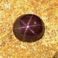 Batu Mulia Star Garnet 10.76 carat Dark Red Oval