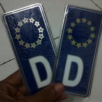 Emblem aksesoris plat nomor logo regional D bintang