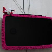 """Cover TV Bee Hello Kitty (24"""" - 36"""") / bando TV / list TV / Sarung TV"""