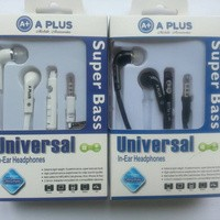 Handsfree A Plus A+ Universal In Ear Headphone Headset Earphone Black and White (iPhone iPad Samsung Nokia Sony Blackberry)