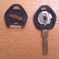 Casing Kunci Remote Key BMW E34 E36 1 Tombol Lampu
