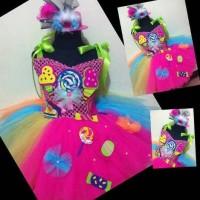 Gaun dress anak Candy land