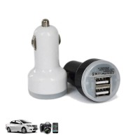 Dual Mini USB Car Charger for Smartphone and Tablet PC - TC007