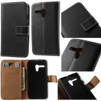 Jual Agenda Standing Leather Flip Wallet Case Dompet Motorola Moto G