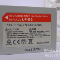Baterai Battery Batere Kamera Canon LP-E5 | EOS 450D EOS 500D EOS Kiss F EOS Kiss X2 EOS Kiss X3 EOS Rebel T1i EOS Rebel XSi