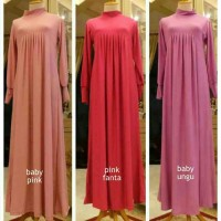 Gamis Jersey Korea Rempel Polos Homemade
