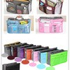 1 kg muat 10pc Korean Bag in bags Double Resleting ipad bb iphone samsung tablet pouch organizer convertible lipstick tissue tas