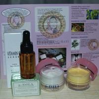 Cream Adha Pink + Serum ( Paket A-DHA Pink + Serum / A Dha + Serum ) krim wajah muka face lotion putih whitening white pemutih