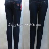 Jual legging 99 bahan jeans denim (Hitam) M-XL Murah