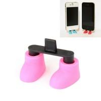 Aksesoris Handphone Korean personality shoes design data line inlet iphone5 dustproof cap plug (1pcs price) (Color Will Be Rando