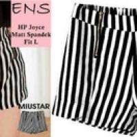 Hot pants Stripe Black White