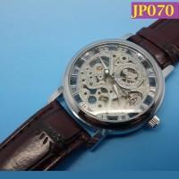 Jam Tangan Pria Rangka Mekanik Bertali Kulit JP070
