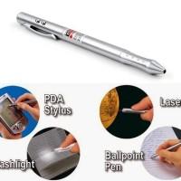 harga 4-in-1 Laser Pointer + Ball Pen + Pda Stylus Pen + Led Light Tokopedia.com