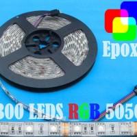 harga Rgb 12v Waterproof Pc Epoxy 5mt Smd5050 Strip 300 Leds +doubletape White Pcb Tokopedia.com