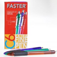 Pulpen Faster C6 - Hitam (Pack 12 Pcs)