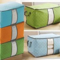 Bamboo Storage Box Warna ( organizer Pakaian, Selimut, Bed cover, sprei, dll )