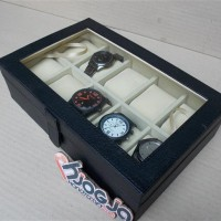 EXCLUSIVE LARGE SIZE WATCH BOX ORGANIZER FOR 10 SPORT WATCHES