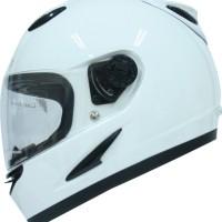 harga Helm Motor Full Face Cargloss Racer Whity White Size L Tokopedia.com