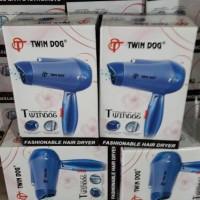 hair dryer twin dog