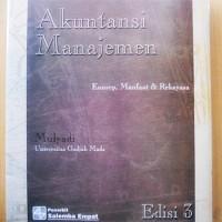 Akuntansi Manajemen; Konsep, Manfaat & Rekayasa, Mulyadi