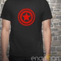 Kaos SuperHero - Logo Captain America