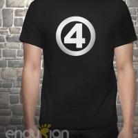 Kaos SuperHero - Logo Fantastic Four