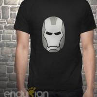Kaos SuperHero - Logo Iron Man