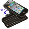 TK-421 Case with Flip-out Bluetooth Keyboard for iPhone 4, 180 Degree Rotate