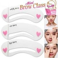 Cetakan Cetak Alis Mini Brow Class Drawing Draw Guide Eyebrow Gambar Beauty Kecantikan Cantik Kosmetik 3 in 1 Motif Pola Bentuk