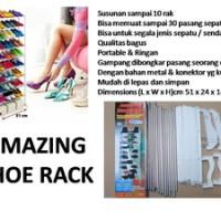 amazing shoe rack as seen on tv rak sepatu wanita pria high heels sporty kets olahraga futsal basket kotak sepatu sandal storage