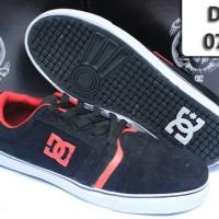Sepatu Casual DC Shoes 076 hitam lis merah DC-076