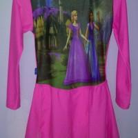 baju renang muslim karakter barbie
