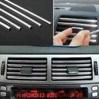 Karet Dekorasi Mobil Strip Perak (1 Meter)