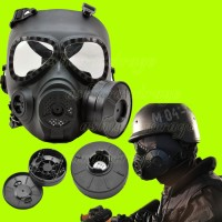 AIRSOFT OUTDOOR Gas Mask M04 With Fan