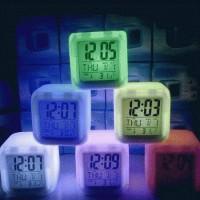 Jam Unik Murah Bisa Berubah 7 warna / moodi clock / Jam digital 7 Warna lengkap dengan informasi temperatur