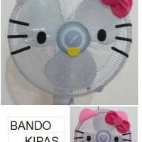 Bando Sarung Kipas Angin motif Hello Kitty Face